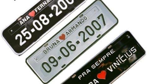 Placas de Carro Personalizadas (PROMOÇÃO)