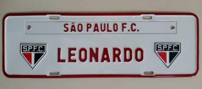 Placas Personalizadas de Times de Futebol - São Paulo