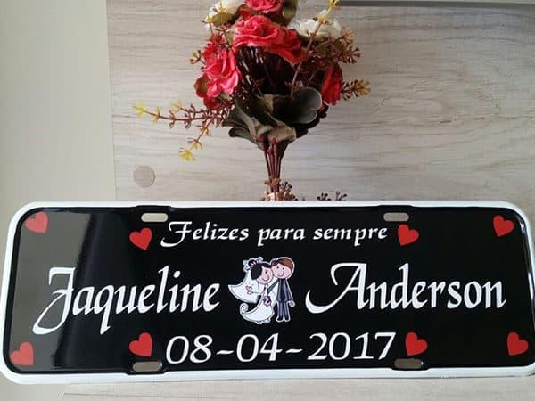 Placa Personalizada Noivinhos para Casamento