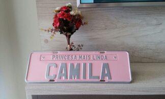 Placa Personalizada para Aniversário - Princesa