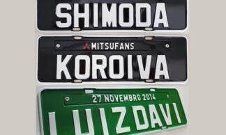Promoção 03 Placas de Carro Personalizadas Alto Relevo