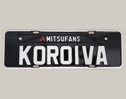 Promoção 03 Placas de Carro Personalizadas - Koroiva