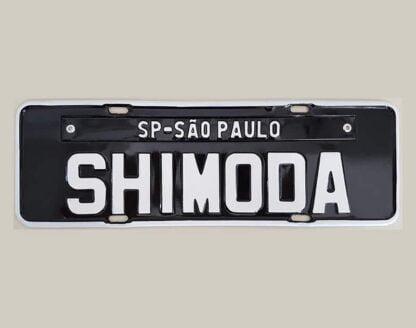 Promoção 03 Placas de Carro Personalizadas - Shimoda
