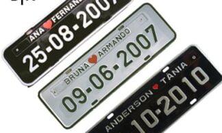 Placas de Carro Personalizadas