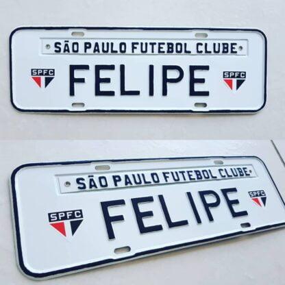 Placa de Carro Personalizada Time de Futebol - São Paulo | Barukar